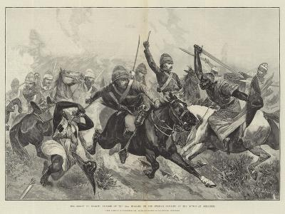 The Relief of Suakin, Charge of the 20th Hussars on the Enemy's Cavalry in the Action at Gemeizeh-Richard Caton Woodville II-Giclee Print