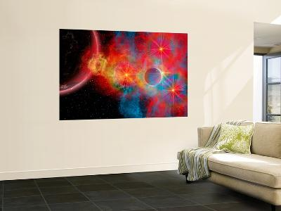 The Remains of a Supernova Give Birth to New Stars-Stocktrek Images-Wall Mural
