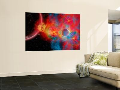 The Remains of a Supernova Give Birth to New Stars-Stocktrek Images-Giant Art Print