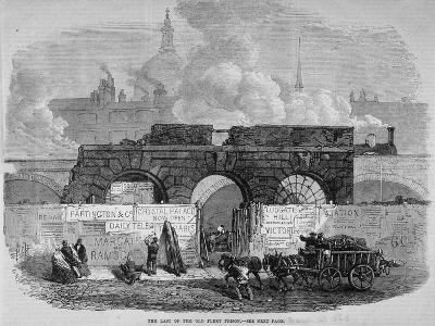 The Remains of Fleet Prison, City of London, 1868--Giclee Print