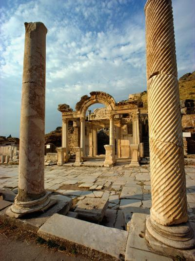 The Remains of Hadrians Gate at Ephesus-Gordon Gahan-Photographic Print