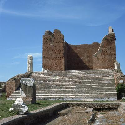 The Remains of the Capitol of Ostia, Romes Port, 2nd Century-CM Dixon-Photographic Print