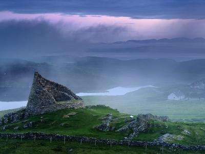 The Remains of the Double-Walled Fortress, Dun Carloway-Jim Richardson-Photographic Print