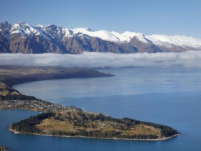 The Remarkables, Lake Wakatipu, and Queenstown, South Island, New Zealand-David Wall-Photographic Print