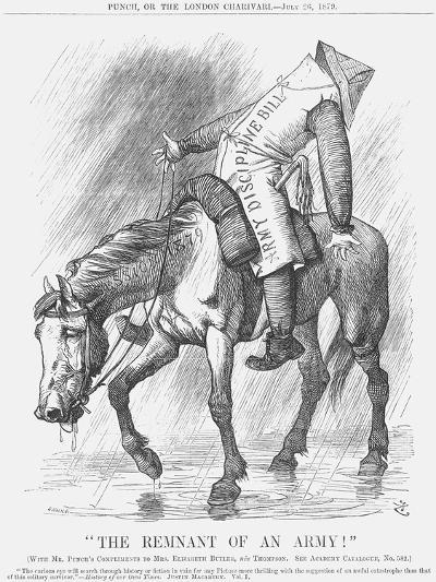 The Remnant of an Army!, 1879-Joseph Swain-Giclee Print