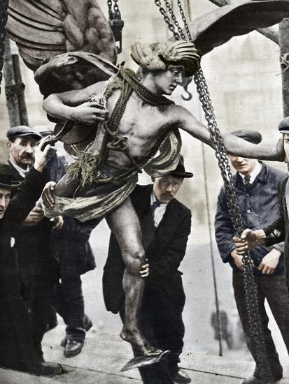 'The removal of Eros', 1925, (1938)-Unknown-Photographic Print