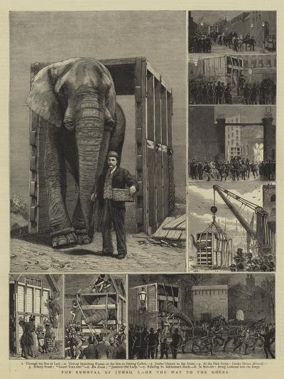 The Removal of Jumbo, I, on the Way to the Docks-Alfred Chantrey Corbould-Giclee Print