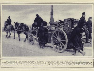 The Removal of the Belgian Government to France--Photographic Print