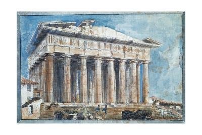 The Removal of the Sculptures from the Pediments of the Parthenon-Sir William Gell-Giclee Print