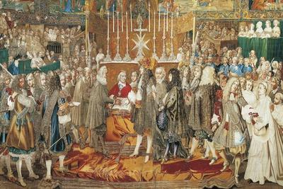 The Renewal of the Alliance Between France and Switzerland in Notre Dame in Paris--Giclee Print