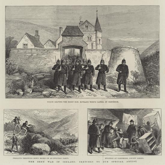The Rent War in Ireland--Giclee Print
