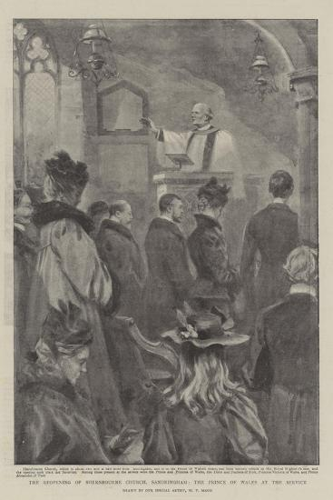 The Reopening of Shernbourne Church, Sandringham, the Prince of Wales at the Service-William T^ Maud-Giclee Print