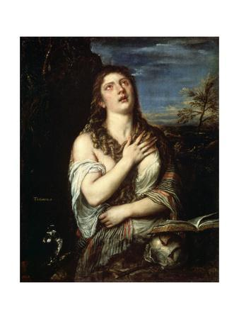 The Repentant Mary Magdalene, 1560S-Titian (Tiziano Vecelli)-Giclee Print