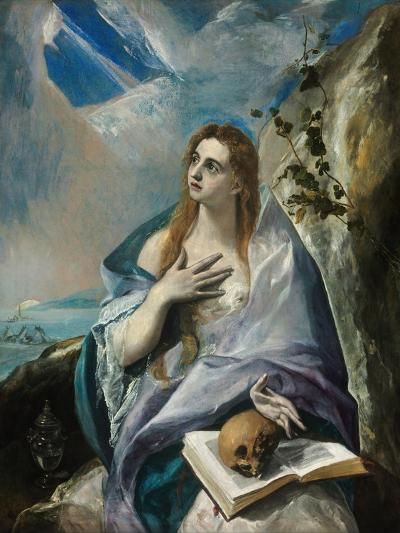 The Repentant Mary Magdalene-El Greco-Giclee Print
