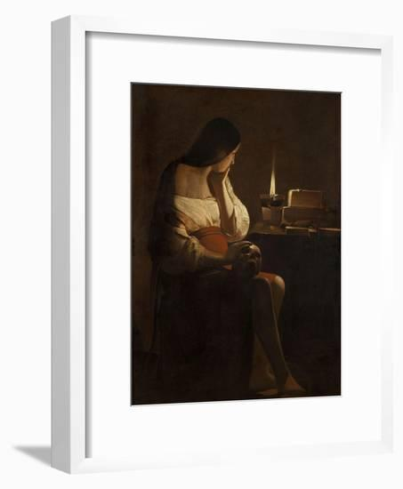 The Repentant Mary Magdalene-Georges de La Tour-Framed Giclee Print