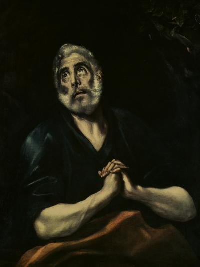 The Repentant Peter-El Greco-Giclee Print