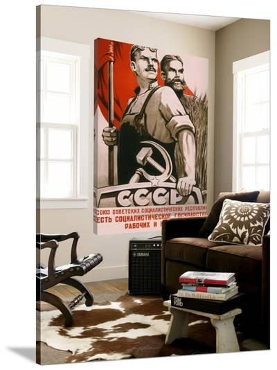 The republic of social soviet, union for country and urban worker--Loft Art