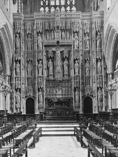 The Reredos of Winchester Cathedral, 1924-1926--Giclee Print