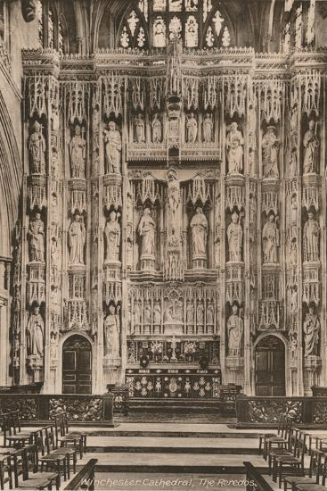 The reredos, Winchester Cathedral, Hampshire, early 20th century(?)-Unknown-Photographic Print