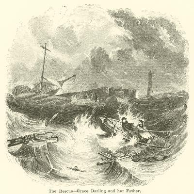 The Rescue, Grace Darling and Her Father--Giclee Print