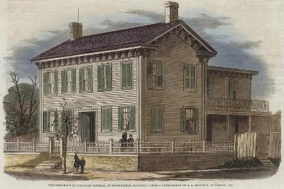 The Residence of Abraham Lincoln--Giclee Print
