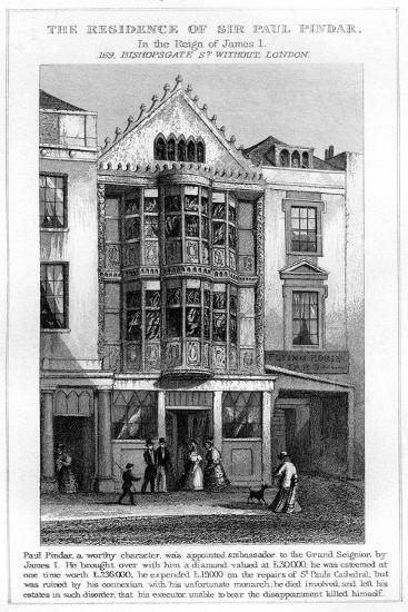 The Residence of Sir Paul Pindar, Bishopsgate, City of London--Giclee Print