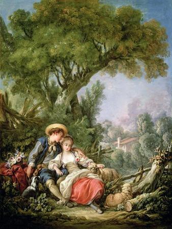 The Rest, 1764-Francois Boucher-Giclee Print