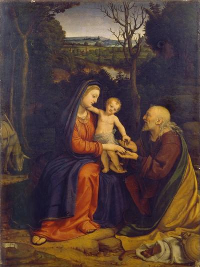 The Rest on the Flight into Egypt-Andrea Solari-Giclee Print