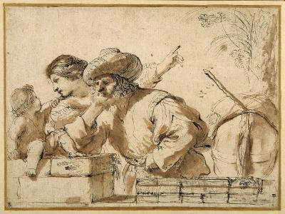 The Rest on the Flight-Guercino (Giovanni Francesco Barbieri)-Giclee Print