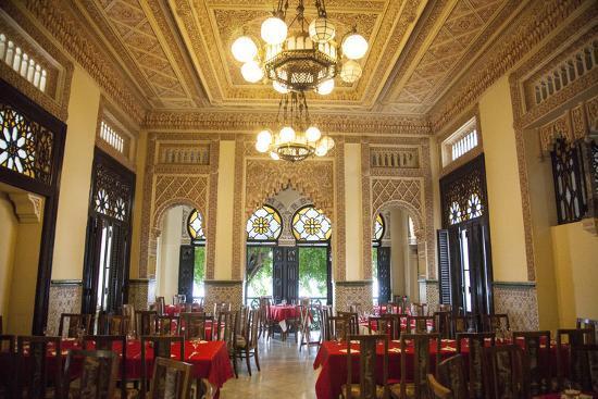 The Restaurant Palacio De Valle in the Punta Gorda Section of Cienfuegos-Michael Lewis-Photographic Print