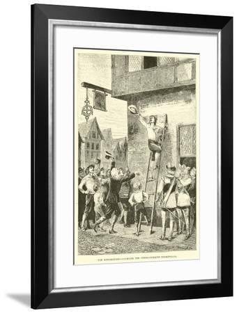 The Restoration, Defacing the Commonwealth Inscriptions--Framed Giclee Print