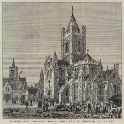 The Restoration of Christ Church Cathedral, Dublin, View of the Exterior and the Synod House-Henry William Brewer-Giclee Print