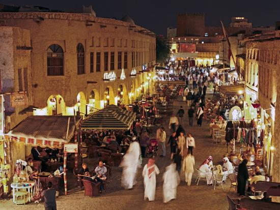 The Restored Souq Waqif with Mud Rendered Shops and Exposed Timber Beams,  Doha, Qatar, Middle East Photographic Print by Gavin Hellier | Art com