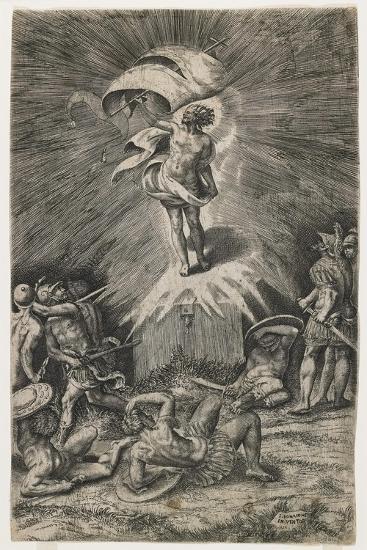 The Resurrection, 1561-Giulio Bonasone-Giclee Print