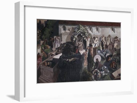 The Resurrection, Cookham-Sir Stanley Spencer-Framed Giclee Print