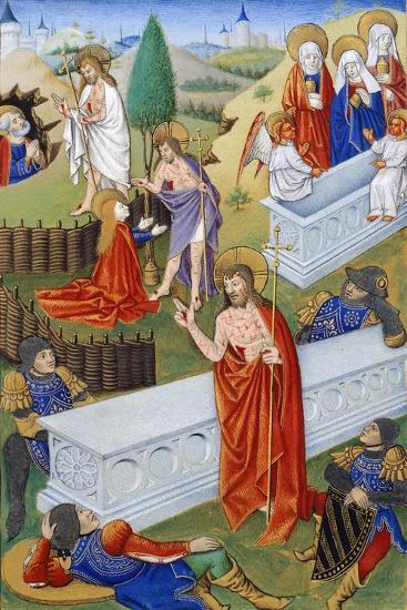 The Resurrection, Miniature from Book of Prayers by Jeanne De Laval, Manuscript--Giclee Print