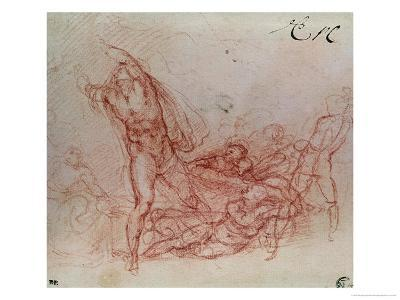 The Resurrection of Christ, circa 1536-38-Michelangelo Buonarroti-Giclee Print