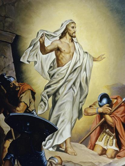 The Resurrection of Jesus-Heinrich Hofmann-Giclee Print