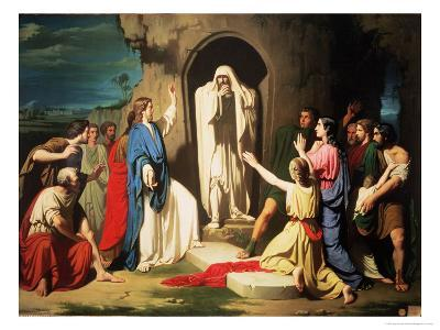 The Resurrection of Lazarus-Jose Casado Del Alisal-Giclee Print