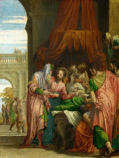 The Resurrection of the Daughter of Jairus-Paolo Veronese-Giclee Print