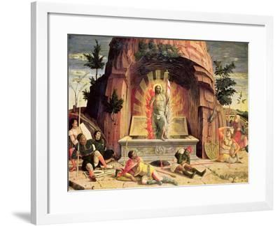 The Resurrection, Right Hand Predella Panel from the Altarpiece of St. Zeno of Verona, 1456-60-Andrea Mantegna-Framed Giclee Print