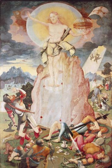 The Resurrection, Right Side Panel of Herrenberg Altarpiece, 1519-Jorg Ratgeb-Giclee Print