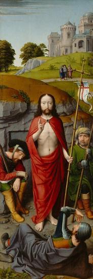 The Resurrection, with the Pilgrims of Emmaus, c.1510-Gerard David-Giclee Print