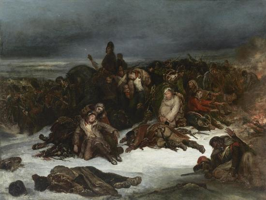 The Retreat of Napoleon's Army from Russia in 1812, 1826-Ary Scheffer-Giclee Print