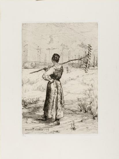 The Return from the Field, 1878-Jules Bastien-Lepage-Giclee Print