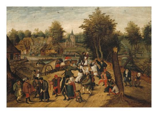 The Return from the Village Fair-Pieter Brueghel the Younger-Giclee Print
