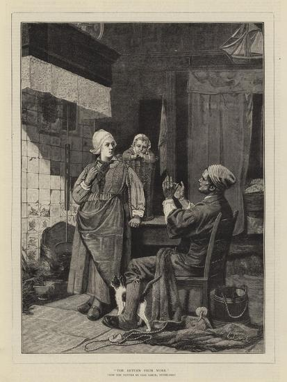 The Return from Work-Carl Julius Lorck-Giclee Print