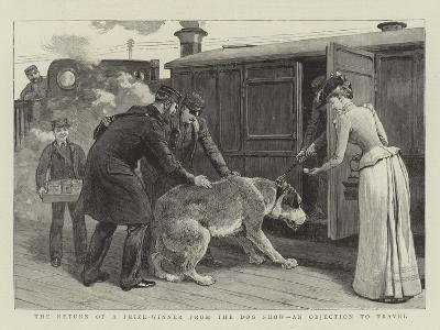 The Return of a Prize-Winner from the Dog Show, an Objection to Travel--Giclee Print