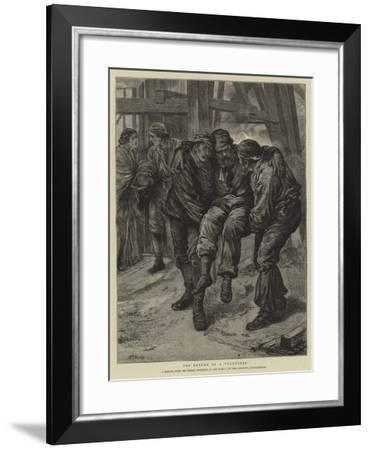 The Return of a Volunteer-Henry Woods-Framed Giclee Print