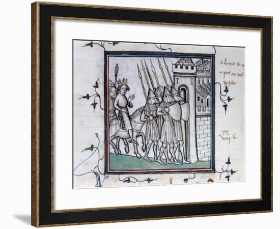The Return of Charles VI of France after the Battle of Rosbecque, 1382--Framed Giclee Print